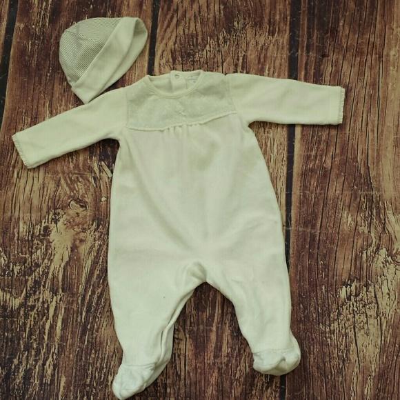 Newborn Baby Premature Baby playsuit Tiny Baby Velour all in one babygro
